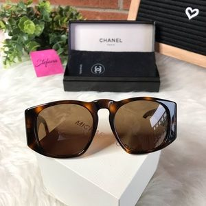 CHANEL Accessories - Chanel Vintage Unisex Tortoise Aviator Sunglasses